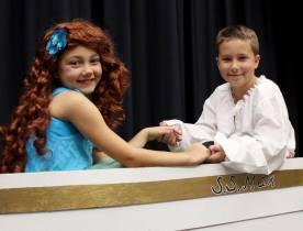 Ariel (Ayva Loveridge) and Prince Eric (Simon Lanier) in The Little Mermaid Jr. (2013)